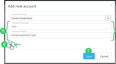 Add account window