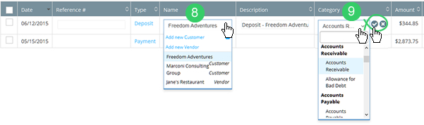 Categorizing transaction after adding new