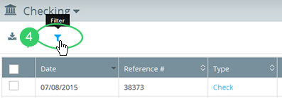 Click the search filter icon