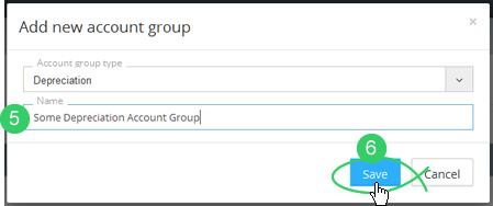 Enter an account group name and Save