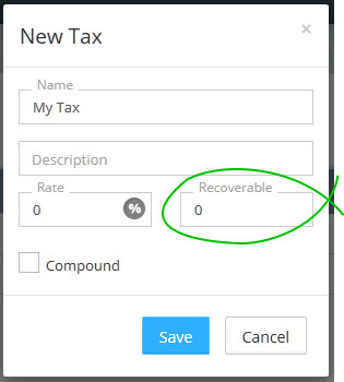 Recoverable tax