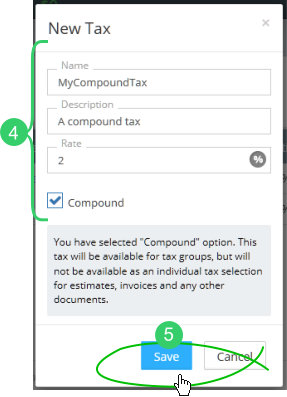 Click the Compound Tax checkbox